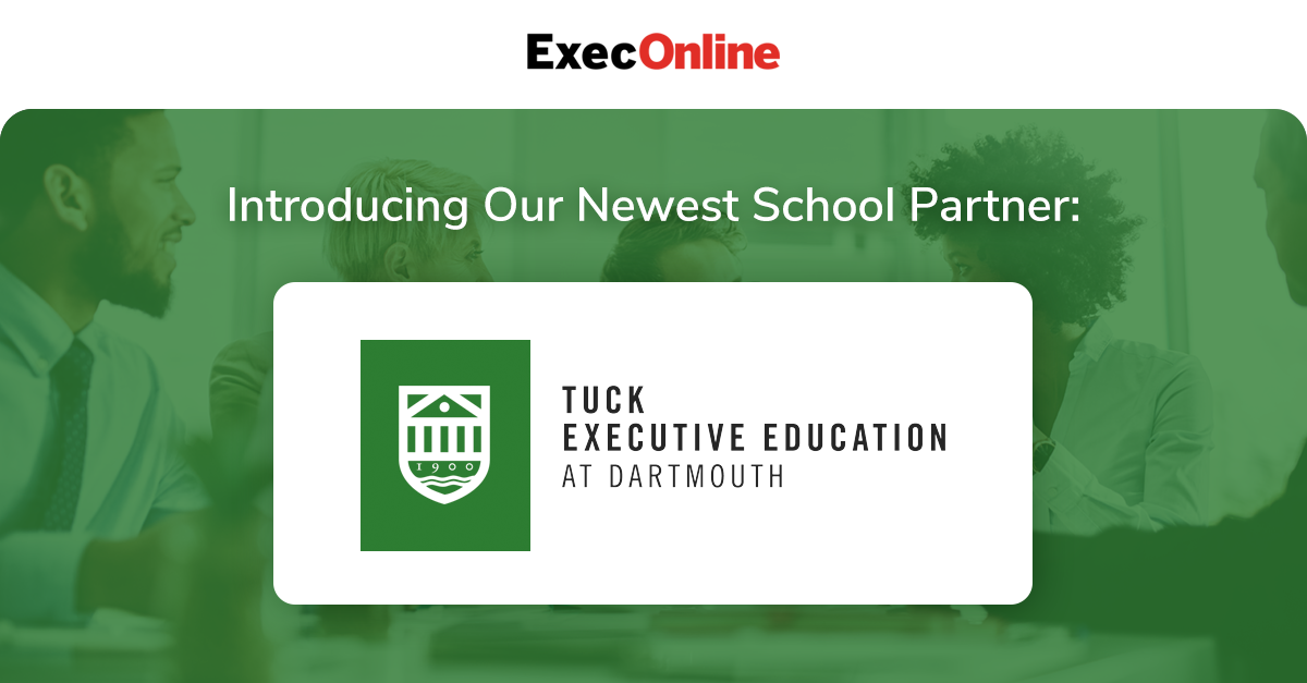 ExecOnline Partners with Tuck Executive Education